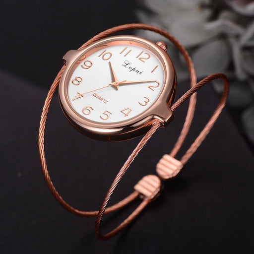 Women Dress Bangle Watches Ladies Bracelet Watch Rose Gold Quartz Clock Creative Fine Strap Wrist Watches Relogio Feminino -20