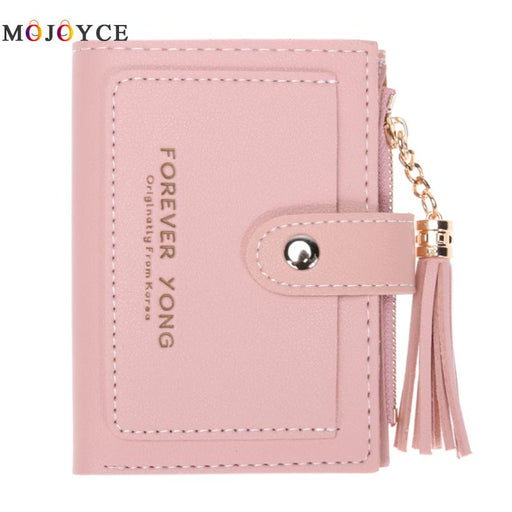 Women PU Leather Wallet Girl Hasp Small Wallet Purse Tassels Mini Handbag Fashion Female Pink Purse Coin Purse Card Holder