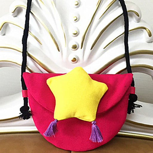 Women Pentagram Pattern Coin Purse Shoulder Bag Child Girls Mini Wallet Corduroy Portable Handbag Children's Messenger Bag