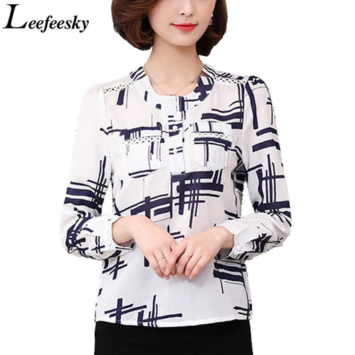 Women Striped Shirts 2017 Autumn Long Sleeve Hollow Out Cotton Blouse Shirt Korean Fashion Ladies Office Tops Work Wear Blusas