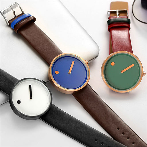 Women's Designer Watches Unique Minimalist Creative Ladies Watch Dot and Line  simple stylish quartz Wrist Watch Gift Clock PJ
