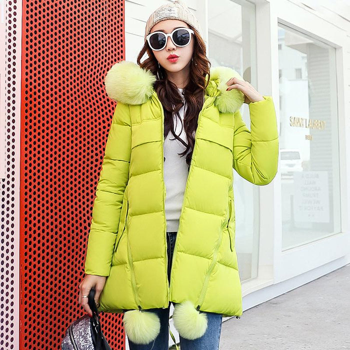 602859db2c9 Women winter jackets 2017 Long Thick Solid A-line Female winter Coats Girls  Snow wear