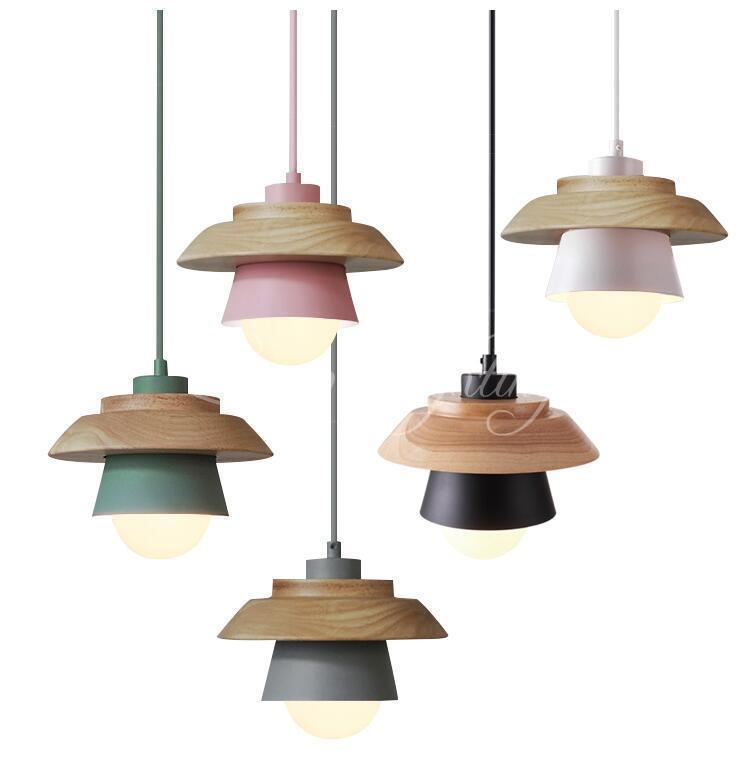 Wood ufo nordic pendant lights for home lighting modern hanging lamp wood ufo nordic pendant lights for home lighting modern hanging lamp wooden aluminum lampshade e27 led mozeypictures Images
