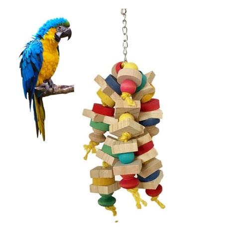 Wooden Pet Bird Swing Toys Parrot Toys Interesting