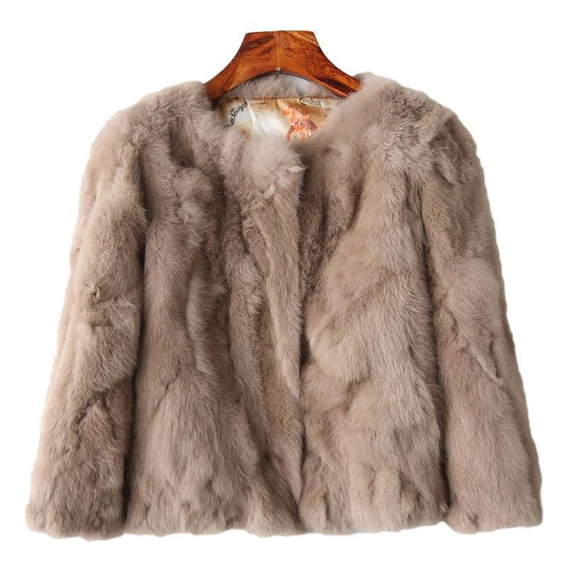 96890482099 XSJPZH Fur Coat Women 2017 New Genuine Rabbit Fur Coat women full pelt  Rabbit Fur Jacket