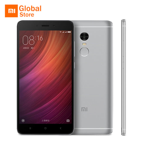 "Xiaomi Redmi Note 4 4GB RAM 64GB ROM Mobile Phone MTK Helio X20 Deca Core 5.5"" FHD 13MP Camera 4100mAh MIUI 8 Global ROM"