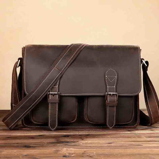 YISHEN Genuine Leather Men Shoulder Crossbody Bags Retro Business Men Messenger Bags Casual Travel Bags Men Briefcase BFL-0201
