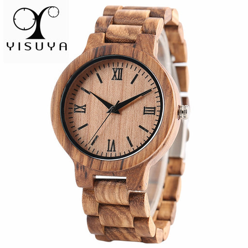 YISUYA Nature Wood Bamboo Watch Men Handmade Full Wooden Creative Women Watches 2018 New Fashion Quartz Clock Christmas Gift