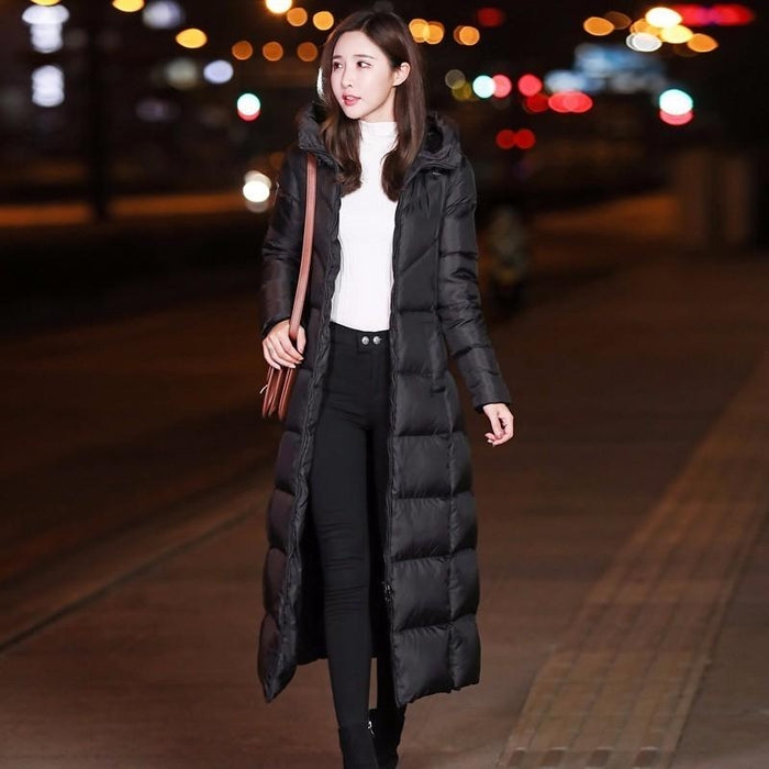 YOCALOR Winter Womens Down Coat Jackets Brands For Girl Women Jacket Goose  Feather Long Thick Female c5e9f96c18