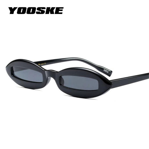 YOOSKE 2018 Small Oval Cat Eye Sunglasses Women Retro Rectangle Pink Leopard Black Vintage Red Sun glasses for Women UV400