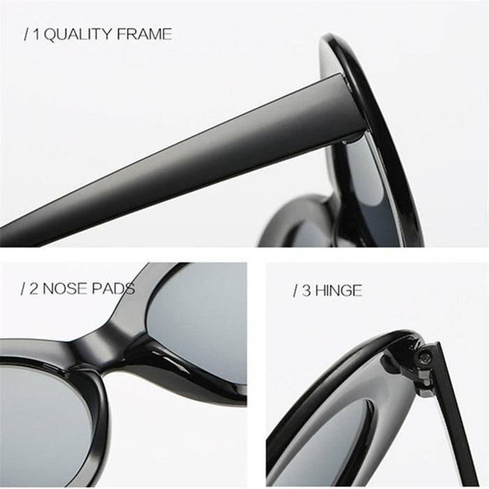 a071a0736e634 YOOSKE Women Clout Goggles Glasses Men NIRVANA Kurt Cobain Sunglasses  Female Male Oval Sun Glasses Black
