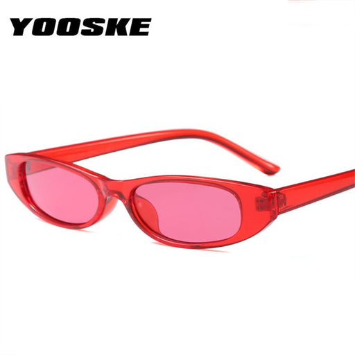 YOOSKE Women Men Small Frame Sunglasses Unisex Brown Leopard Red Black Small Sun Glasses For Women UV400