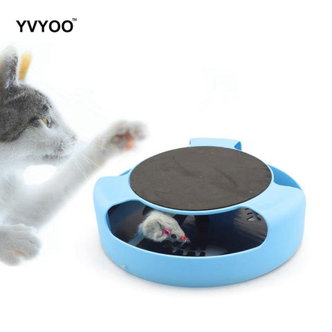 YVYOO Creative Funny Cat Toy Crazy Training Cat Mouse Toy Catch the Motion Pet cat supplies Random color 1pcs A023