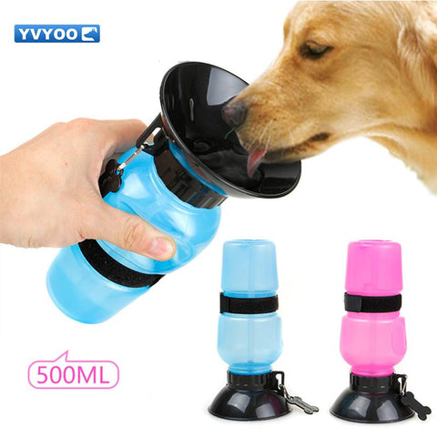 YVYOO Pet Dog Cat Supplies Portable Feeding Water Bottle 500ml Outdoor Travelling  B99