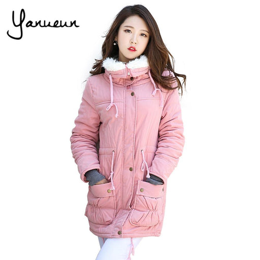 aa4496f523f Yanueun Korean Fashion New 2017 Winter Jacket Coat Women Plus size outwear  Padded Jacket Thick Cotton