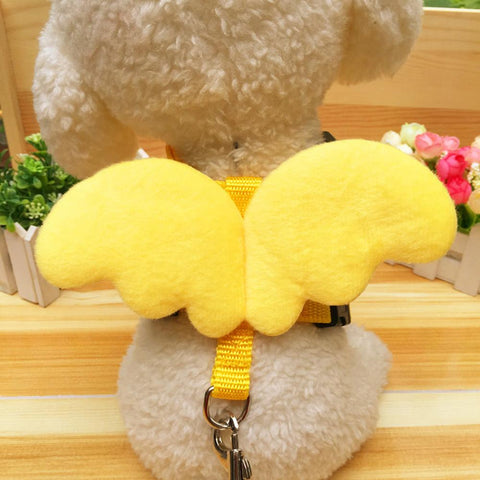 Yellow Adjustable Pet Vest Dog Harness Traction Rope Puppy Kitten Chest Straps Retractable Walking Lead Leash Nylon Cat Supplies