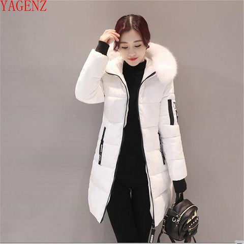 Young woman Winter coat Large size Down jacket NEW High quality Fashion Hooded Fur collar Thickening Winter warm jacket 817