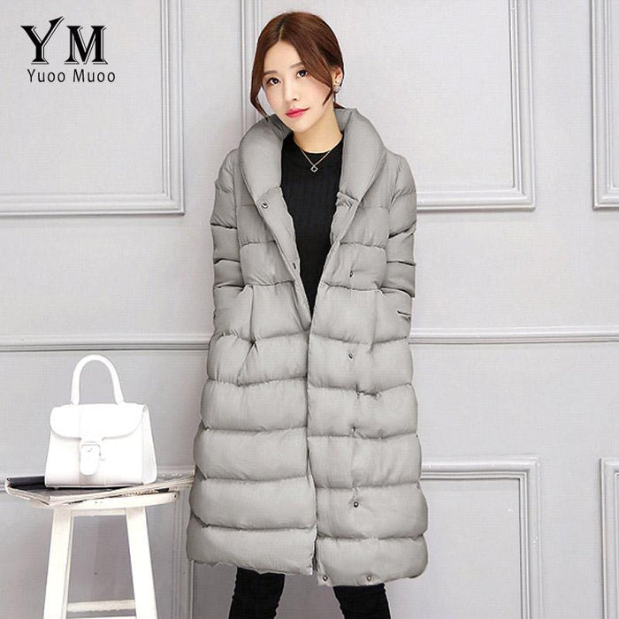 71c8b171335 YuooMuoo New Korean Fashion A-line Women Winter Coat Warm Cotton Padded  Parka Elegant Women