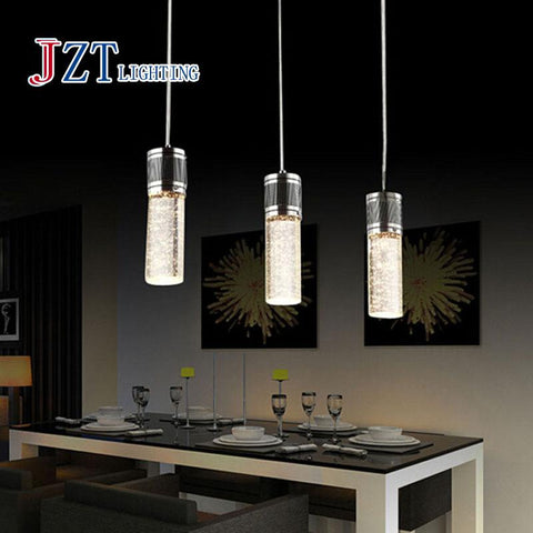Z Best Price 3pc/set Lighting Crystal Lamp Modern Brief LED Pendant Lamp Creative Crystal Pendant Lamp Bar Light Free Shipping