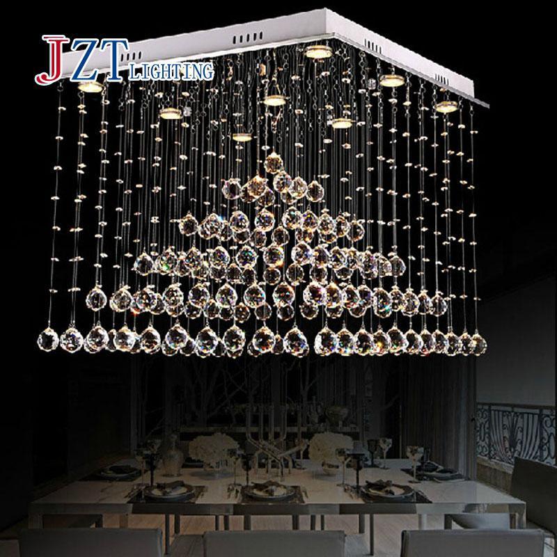 Z Modern Crystal Chandelier Bedroom Lights Hallway Bar Balcony Led Lamp Livingroom Pendant Restaurant