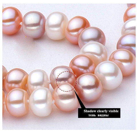 ZHIXI Pearl Jewelry Sets For Women Fine Jewelry 10-11mm Natural Pearl Pearl Necklace Pendant Earrings Ring Trendy Gift T201