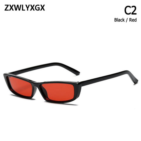 ZXWLYXGX 2018 new fashion style retro classic sunglasses small rectangular sunglasses men and women with sunglasses UV400