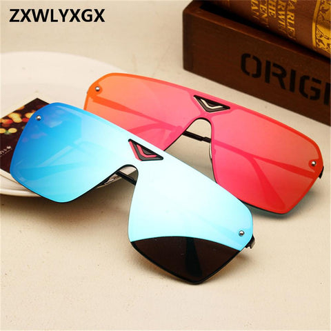 ZXWLYXGX2018 Adult Mirror Goggle Rushed New Sunglasses Fashion Star With The Retro And Women Glasses Oculos De Sol Feminino Marc