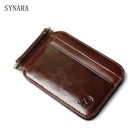 cowhide Genuine Leather Tall Quality Men/WOMEN Money Clip Billfold Clamp For Money With Card Hold Luxury Credit Card magic Walle