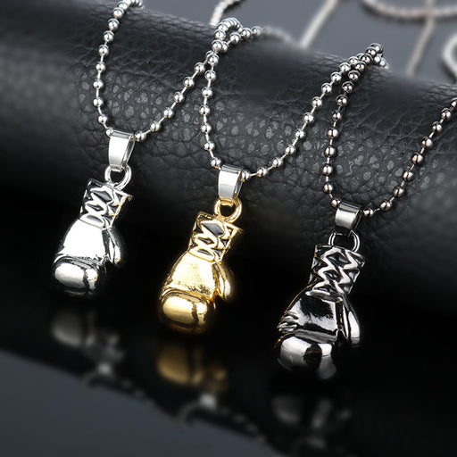 dongshen Fashion Jewellery Neck lace Boxer Boxing Glove Pendant Necklace Sport Fitness Jewelry accessories Beads Chain Necklace