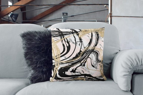 Gold Marble Sofa Pillows Decorative Cushion Couch