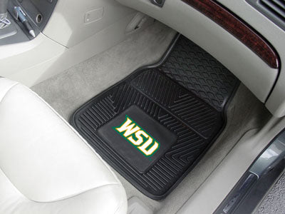 "Wright State 2-pc Vinyl Car Mats 17""""x27"""""