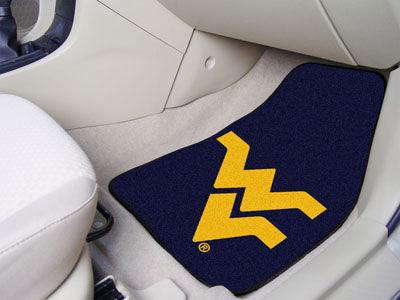 "West Virginia 2-pc Carpeted Car Mats 17""""x27"""""