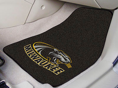 "Wisconsin-Milwaukee 2-pc Carpeted Car Mats 17""""x27"""""