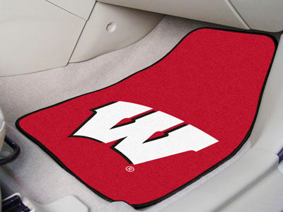 "Wisconsin 2-pc Carpeted Car Mats 17""""x27"""""