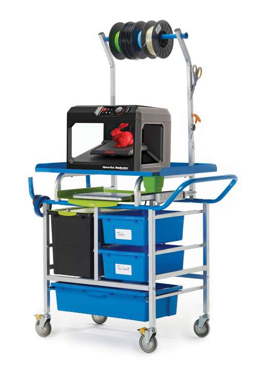 Copernicus School Classroom Office 3D Printer Cart - Premium Model