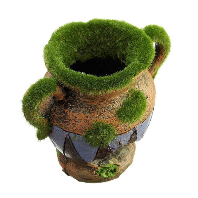 Pandada Moss Vase Fish Tank Decor Ornaments Aquarium Landscape