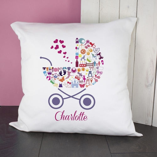 Pram Baby Memory Cushion Cover - Girl
