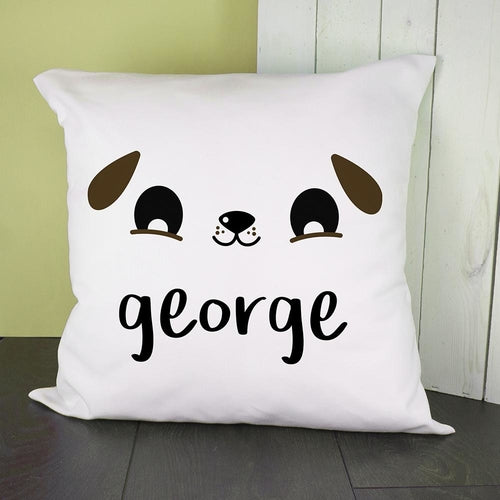 Personalised Cute Puppy Eyes Cushion Cover