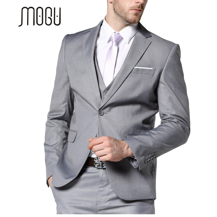online store buy famous brand MOGU 2017 New Mens Fashion Suit Light Gray Slim Fit Wedding Suits For Men  High Quality Bussiness Suits Mens Light Gray Suit
