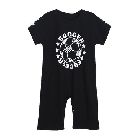 Baby Romper  Baby Kids Toddler Football Print Jumpsuits Short Sleeve Cotton  Baby Boy Girl Clothes Body Clothing Rompers