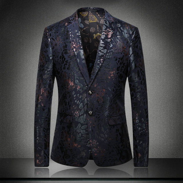 391f36d162ed Envmenst 2017 Fashion Men Groom Wedding Dress Blazer Top Men s Luxury Blazer  Boutique Men Floral Suit