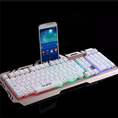 2017 Hot Sale USB Wired Illuminated Colorful LED Backlight Multimedia PC Gaming Keyboard Free Shipping