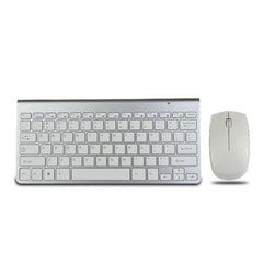 2017 Fashion 2.4G Optical Wireless Keyboard and Mouse Mice Combo Kit High Quality Ultra thin White Wireless Mouse and keyboard