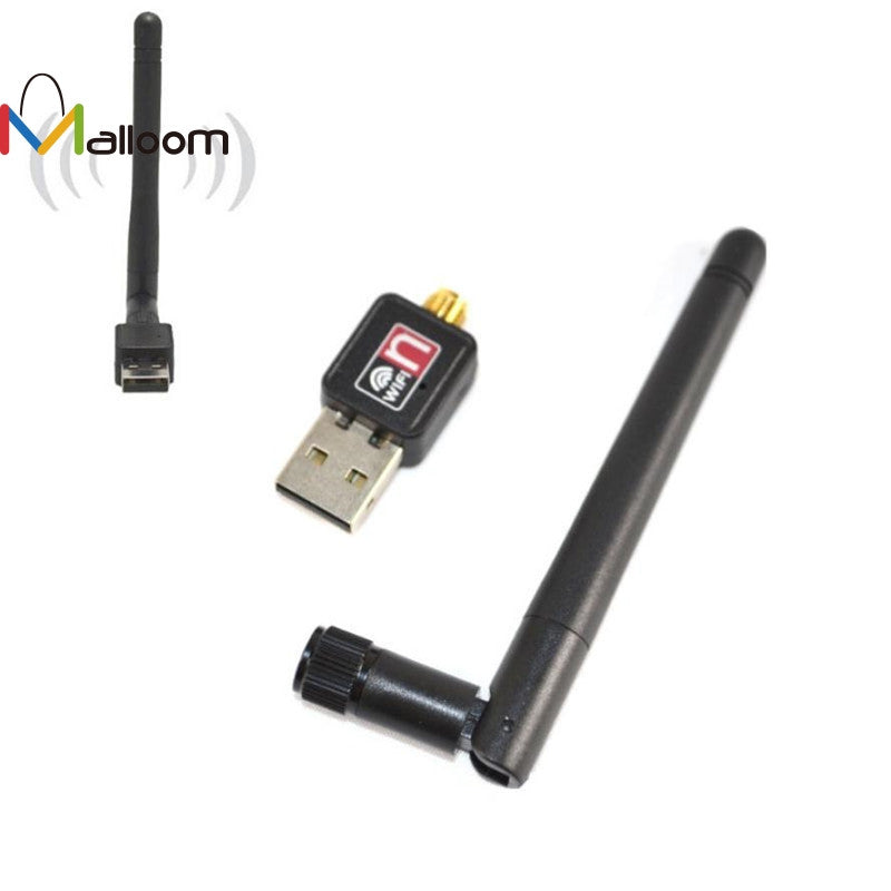 2016 High Quality And Hot Sell Mini 150Mbps USB WiFi Wireless Adapter LAN Card 802.11n/g/b + 2dbi Antenna Black
