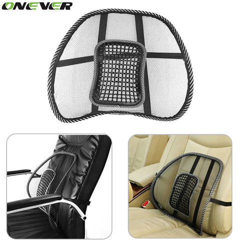 1Pcs Car Seat Mat Cover Black Mesh Back Brace Lumbar Support Massage Cushion For Office Home Car Seat Chair Ventilate Pad
