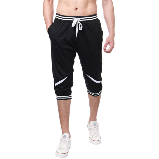 2018 Color Patchwork Calf Length Shorts Mens Summer Beach shorts Casual Male Joggers Short Sweatpants Homme Brand Clothing