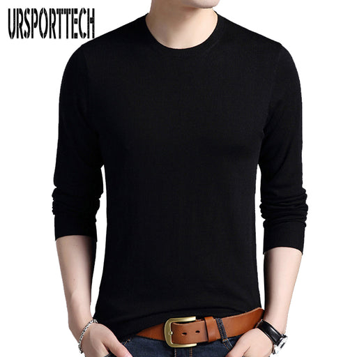 Solid Color Pullover Men O Neck Sweater Men Long Sleeve Shirt Mens Sweaters Wool Casual Brand Cashmere Knitwear Pull Homme 3XL