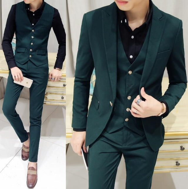 sunwang Brand New Fashion designer yellow red Dark green prom suits ...