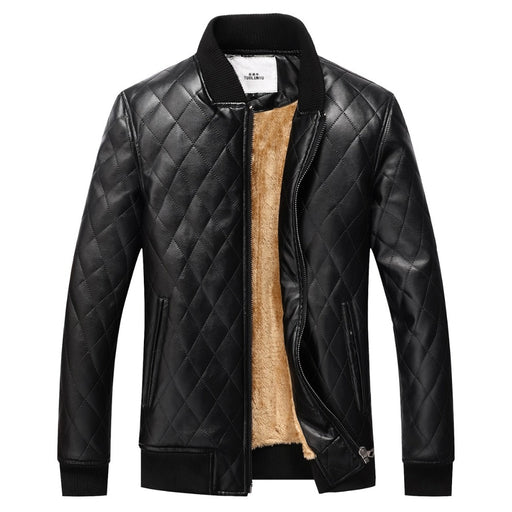 winter jacket men leather jacket coat brand clothing warm fur jacket men thick velvet PU jaqueta couro coat down coat men