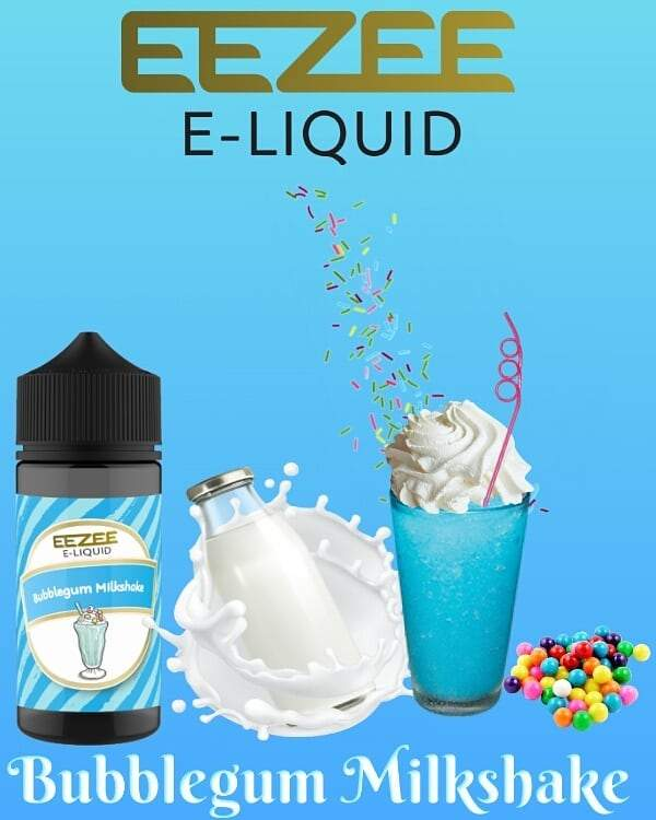 Eezee E-Liquid - Bubblegum Milkshake 100ml
